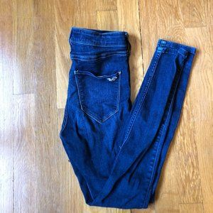 Hollister Dark Wash High Rise Jeggings (short)